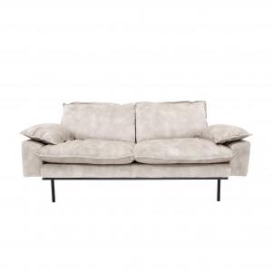 RETRO 2 seater sofa - Cream velvet