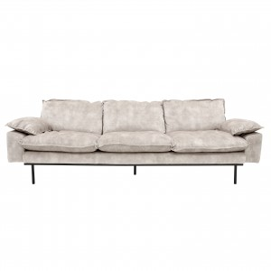 RETRO 4 seater sofa - Cream velvet