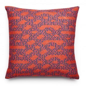 AZTEC cushion knots black/white
