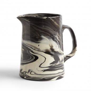 Black MARBLED jug