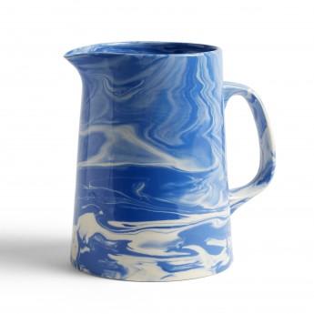 Carafe MARBLED bleue
