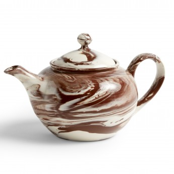 Brown MARBLED teapot