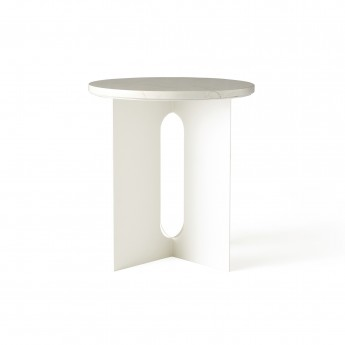 Table d'appoint ANDROGYNE - Marbre blanc