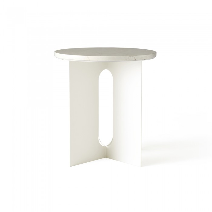 ANDROGYNE side table - White marble