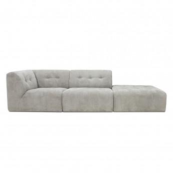 Canapé modulable VINT gris clair - 01