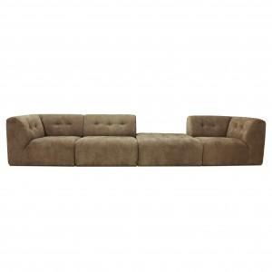 VINT modular sofa brown - 02