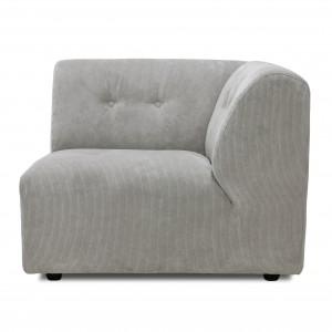Module canapé VINT gris clair - C