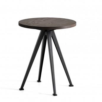 Table PYRAMID coffee Chêne fumé et acier noir