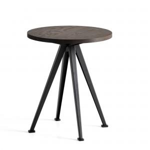 Table PYRAMID coffee Chêne fumé et acier noir L