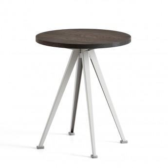 Table PYRAMID coffee Chêne fumé et acier beige