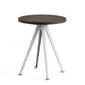 Table PYRAMID coffee Chêne fumé et acier beige L