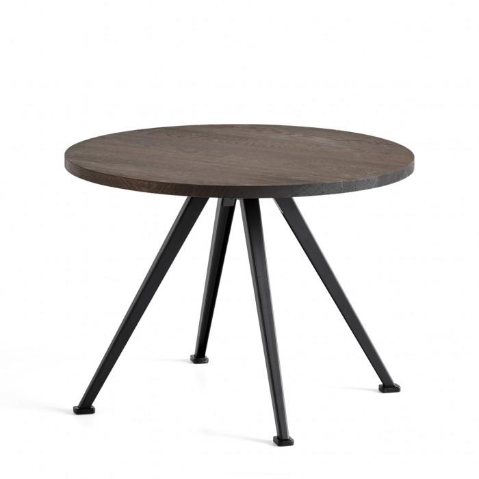 Table PYRAMID coffee Chêne fumé et acier noir S