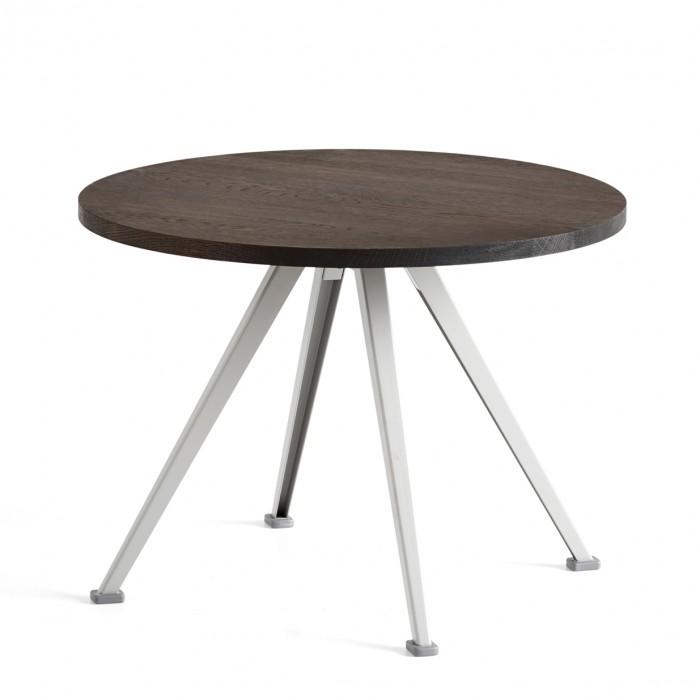 Table PYRAMID coffee Chêne fumé et acier beige S