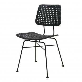 Chair - Black rattan