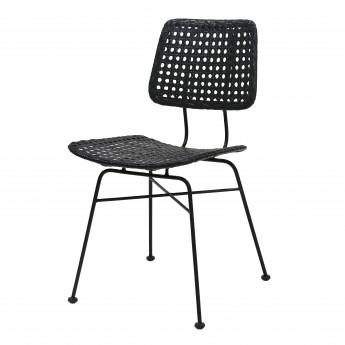 Chaise - Rotin noir