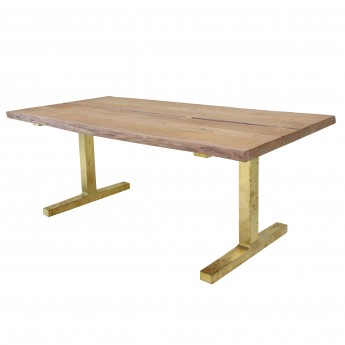 Table wood/brass