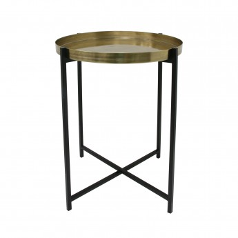 Table d'appoint laiton/noir - M
