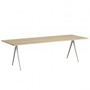 Table PYRAMID 02 acier beige - chêne mat M