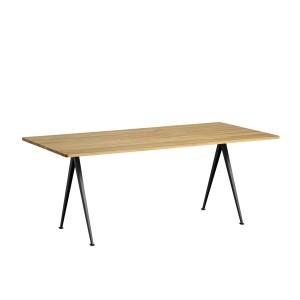 Table PYRAMID 02 acier noir - chêne clair