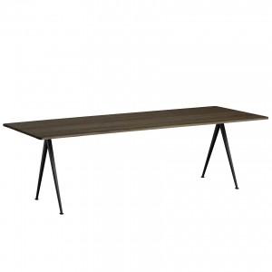 Table PYRAMID 02 acier noir - chêne huilé M