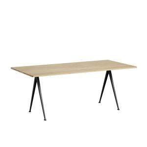 Table PYRAMID 02 acier noir- chêne mat