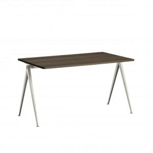 Table PYRAMID acier beige - chêne huilé M