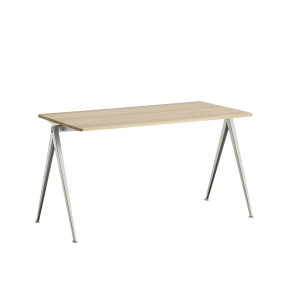 PYRAMID Table beige powder coated steel - mattlacquered