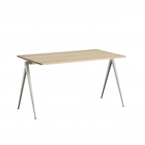 PYRAMID Table beige powder coated steel - matt lacquered M