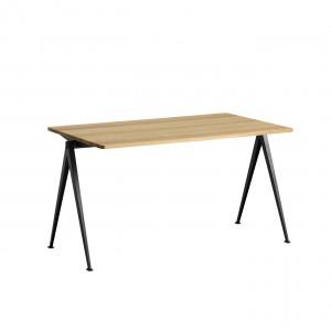 Table PYRAMID acier noir - chêne clair M