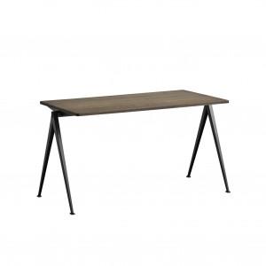 PYRAMID Table black powder coated steel - smoked oiled oak M