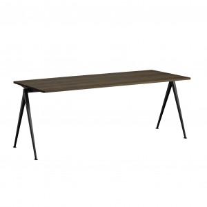 Table PYRAMID acier noir - chêne huilé L