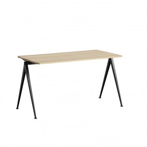 PYRAMID Table black powder coated steel - mattlacquered
