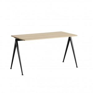 Table PYRAMID acier noir- chêne mat