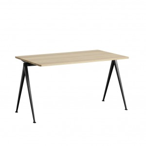 PYRAMID Table black powder coated steel - matt lacquered M