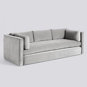 Canapé HACKNEY 3 pl velours gris clair