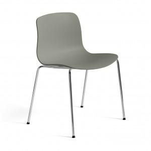 AAC 16 chair - Dusty green, chromed steel leg base