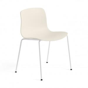 Chaise AAC 16 - Blanc crème, pieds blanc