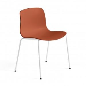 Chaise AAC 16 - Orange, pieds blanc