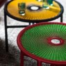 Table basse BANJOOLI S turquoise/marron