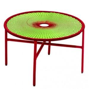 BANJOOLI coffee table S - Green/red