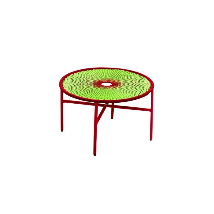 BANJOOLI coffee table S turquoise/brown