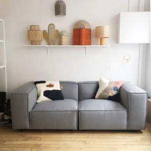 DUNBAR modular sofa - 3 seat - Kvadrat Hero 541