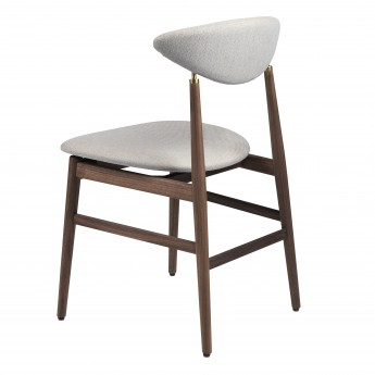 GENT dining chair - Walnut & antique brass