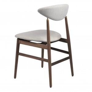GENT dining chair - Walnut & antique brass