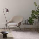 BAT lounge chair - Low - Karakorum & antique brass