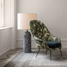 BAT lounge chair - Low - Karakorum & antique brass