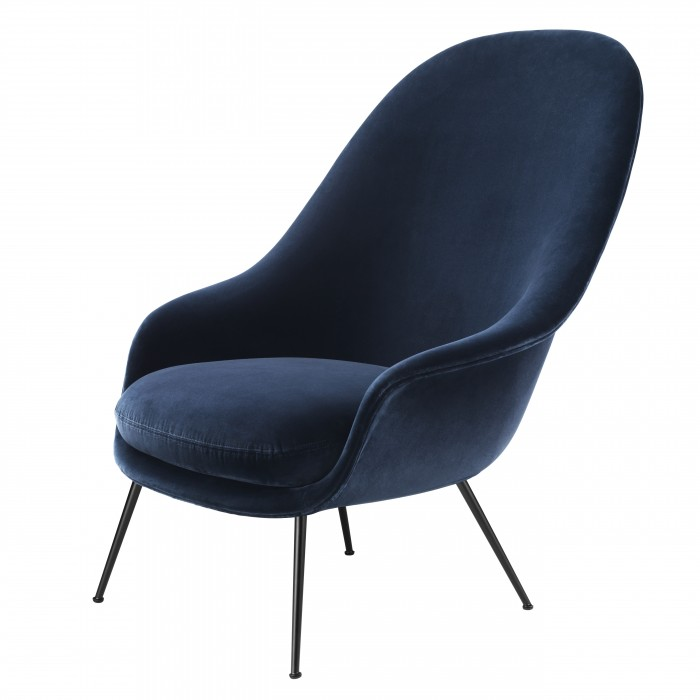 BAT lounge chair - High - Velluto