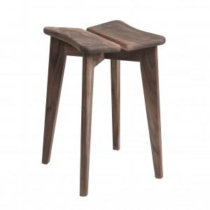 TREFLE stool - American walnut oiled