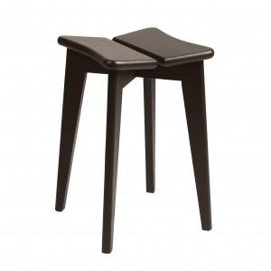 Tabouret TREFLE - Chêne teinté brun/noir
