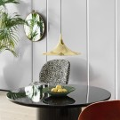 MOON coffee table - Ø150 - Grey marble